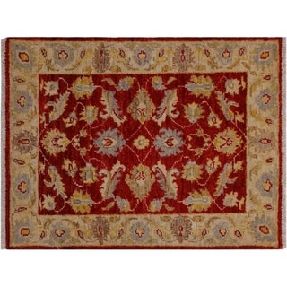 "Ziegler Kafkaz Starnes Red/Ivory Wool Rug -2'0 x 2'10 - 2'0"" x 2'10"""