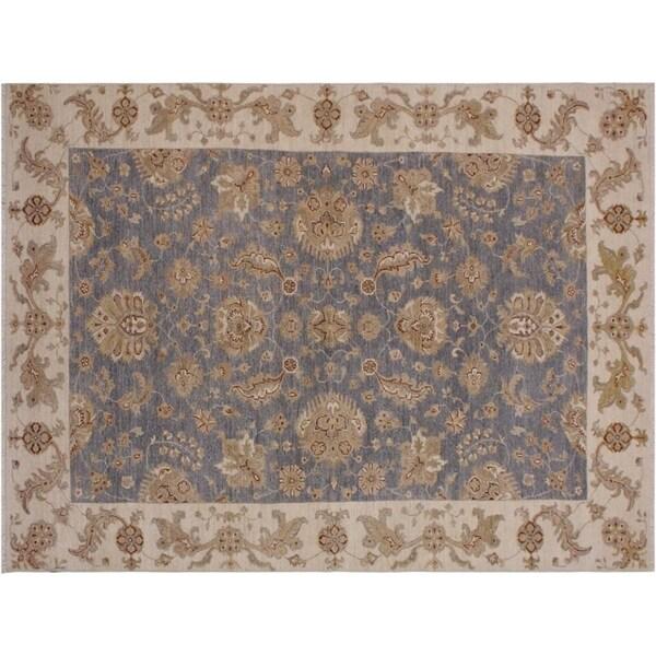 """Ziegler Kafkaz Sprague Grey/Ivory Wool Rug -5'8 x 9'0 - 5'8"""" x 9'0"""""""