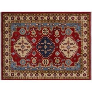"Kazak Stpierre Red/Ivory Wool Rug -3'10 x 6'0 - 3'10"" x 6'0"""