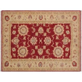 """Ziegler Kafkaz Strand Red/Ivory Wool Rug -3'0 x 4'8 - 3'0"""" x 4'8"""""""