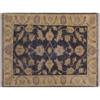 """Ziegler Kafkaz Stern Grey/Ivory Wool Rug -1'11 x 2'9 - 1'11"""" x 2'9"""""""