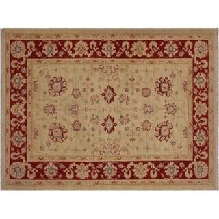 "Ziegler Kafkaz Stratton Ivory/Red Wool Rug -3'4 x 4'9 - 3'4"" x 4'9"""