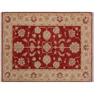 """Ziegler Kafkaz Strauss Red/Ivory Wool Rug -3'3 x 4'10 - 3'3"""" x 4'10"""""""