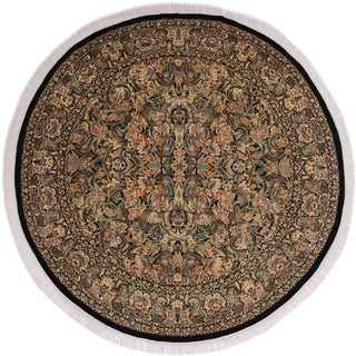 "Pak-Persian Vergie Black/Gray Round Rug -7'11 x 8'0 - 7'11"" x 8'0"""