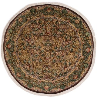 "Imran Pak-Persian Nova Brown/Gray Round Rug -6'2 x 6'3 - 6'2"" x 6'3"""
