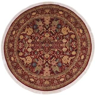 "Nagi Pak-Persian Keely Red/Tan Round Rug -8'1 x 8'3 - 8'1"" x 8'3"""