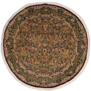 "Imran Pak-Persian Toya Brown/Gray Round Rug -8'0 x 8'3 - 8'0"" x 8'3"""