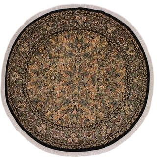 "Pak-Persian Anh Black/Grey Round Rug -8'10 x 9'0 - 8'10"" x 9'0"""