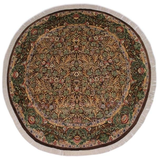 "Imran Pak-Persian Devin Brown/Gray Round Rug -8'3 x 8'3 - 8'3"" x 8'3"""