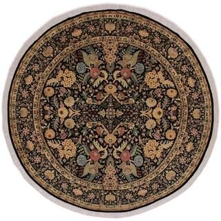 "Nagi Pak-Persian Nydia Black/Tan Round Rug -8'2 x 8'3 - 8'2"" x 8'3"""