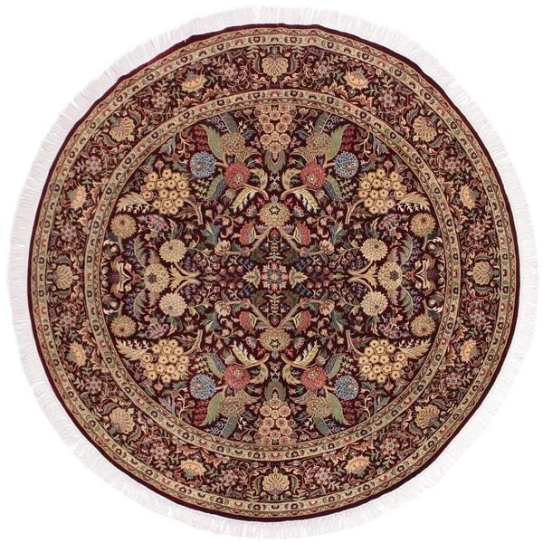 "Nagi Pak-Persian Armida Red/Gray Round Rug -8'0 x 8'0 - 8'0"" x 8'0"""