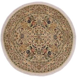 "Nagi Pak-Persian Sol Ivory/Pink Round Rug -6'1 x 6'2 - 6'1"" x 6'2"""