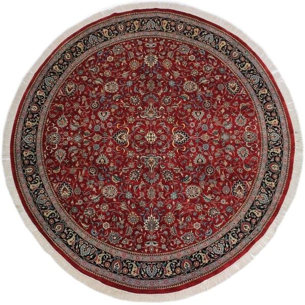 "Victoria Pak-Persian Sherita Red/Blue Round Rug -9'0 x 9'2 - 9'0"" x 9'2"""