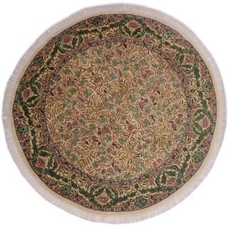 "Imran Pak-Persian Jaimie Ivory/Gray Round Rug -8'1 x 8'2 - 8'1"" x 8'2"""