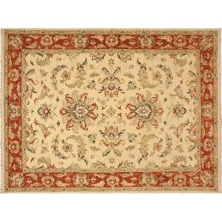 "Ziegler Kafkaz Alysa Ivory/Rust Wool Rug -5'6 x 7'11 - 5'6"" x 7'11"""