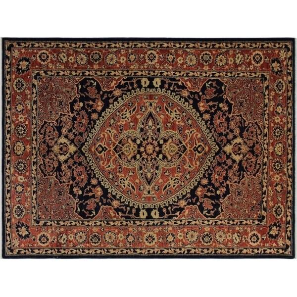"Ziegler Kafkaz Frank Blue/Orange Wool Rug -6'3 x 8'6 - 6'3"" x 8'6"""