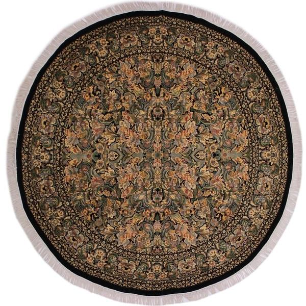 "Pak-Persian Elaina Black/Gray Round Rug -9'1 x 9'2 - 9'1"" x 9'2"""