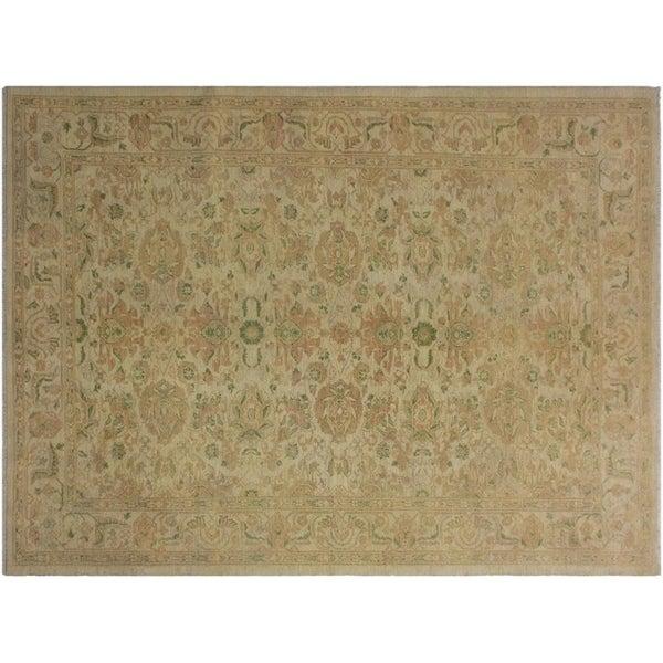 "Ziegler Sun-Faded Laci Ivory/Tan Wool Rug -6'2 x 8'10 - 6'2"" x 8'10"""