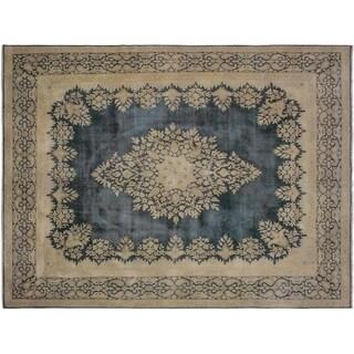 """Vintage Distressed Sorensen Grey/Brown Wool Rug -9'9 x 12'10 - 9'9"""" x 12'10"""""""