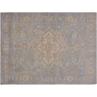 """Ziegler Kafkaz Souza Blue/Ivory Wool Rug -3'11 x 6'0 - 3'11"""" x 6'0"""""""