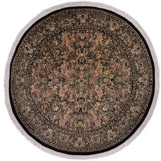 "Pak-Persian Denny Black/Grey Round Rug -9'0 x 9'1 - 9'0"" x 9'1"""