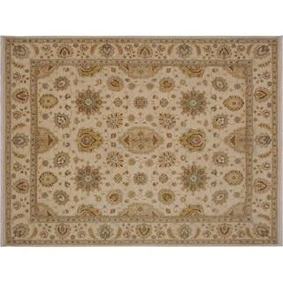 "Ziegler Kafkaz Southerl Ivory/Gold Wool Rug -8'2 x 9'11 - 8'2"" x 9'11"""