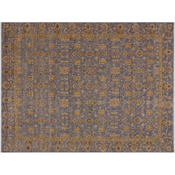 "Ziegler Kafkaz Southard Grey/Gold Wool Rug -8'2 x 9'8 - 8'2"" x 9'8"""