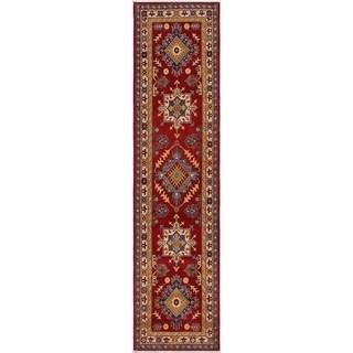 "Kazak Stowe Red/Ivory Wool Runner -2'8 x 9'9 - 2'8"" x 9'9"""