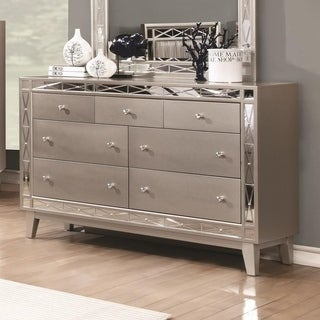 Harlow Metallic Mercury 7-drawer Dresser