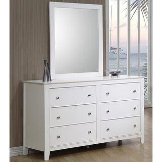 Porch & Den Galloway White 6-drawer Dresser