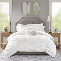 Madison Park Signature Gardenia White Oversized Duvet Style Cotton Comforter Set