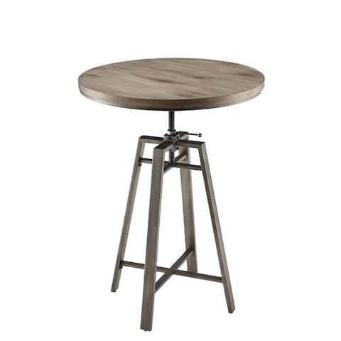 Dumont Industrial Adjustable Height Round Bar Table