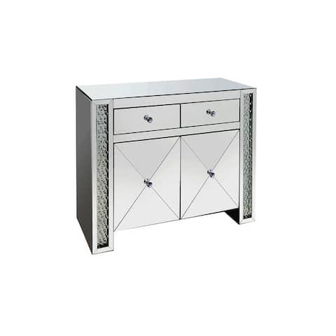 Vivianne Contemporary Silver Mirrored Cabinet