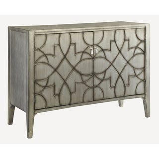 Corinne Antique Silver Accent Cabinet