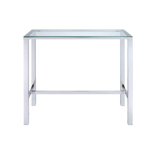 Silver Orchid Garbo Contemporary Glass Bar Table