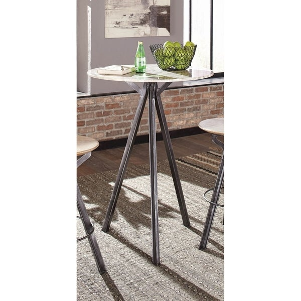 Overstock Bar Table: Shop Ballantine Industrial Natural Stone And Antique