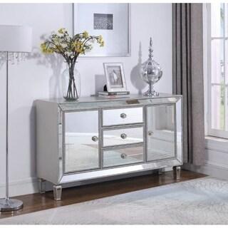Gabrielle Metallic Platinum Mirrored Accent Cabinet