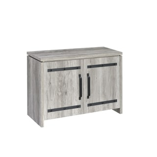 Galley Rustic Grey Accent Cabinet