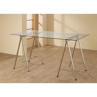 Sydney Glass and Metal Writing Desk
