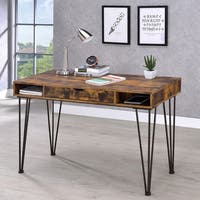 Carbon Loft Awad Industrial Antique Nutmeg Writing Desk