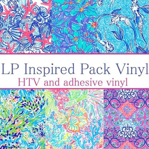 Craft vinyl lilly p inspired vinyl Collection 6, PACK OF 6 VINYL, LP-PK-6