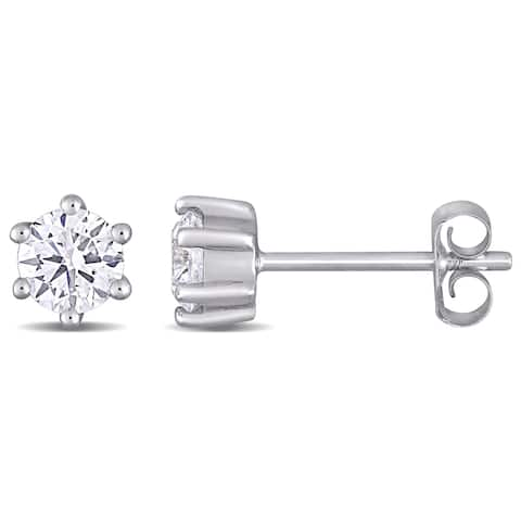 Eternally Yours 5/8ct TW Lab Created Diamond Solitaire Stud Earrings in 14k White Gold