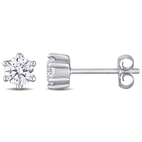 ddfe30e77 Eternally Yours™ 5/8ct TW Lab Created Diamond Solitaire Stud Earrings in 14k  White