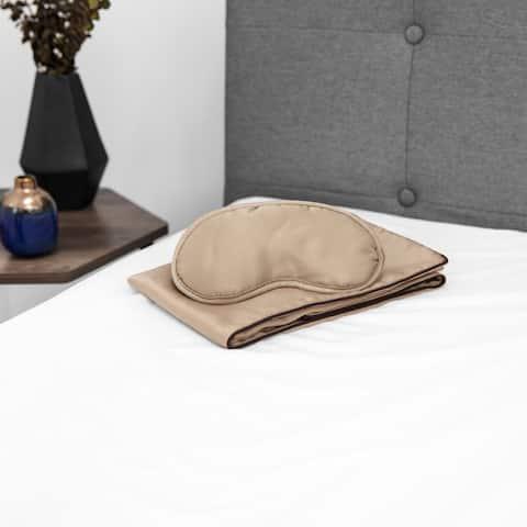 SwissLux NightSpa Cupron Pillowcase and Cupron Eye Mask Bundle