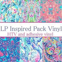 Craft vinyl lilly p inspired vinyl PACK OF 6 VINYL sheets LP-PK-7