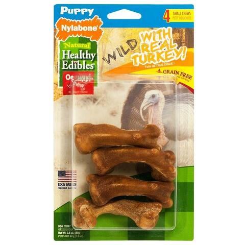 Nylabone Healthy Edibles Puppy Wild Turkey Small 4pk