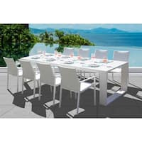 Ritz 9 Pc Dining Set - Fabric color_White