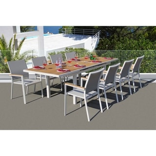 Link to Essence 9 Pc Dining Set - Fabric color_Mouse Grey Similar Items in Patio Furniture