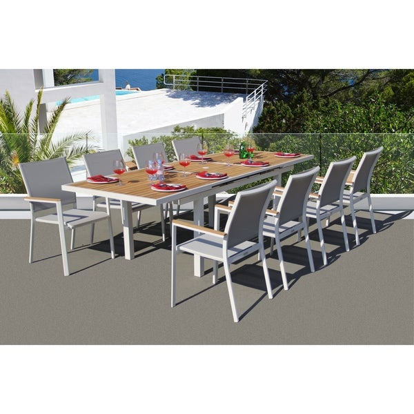 Essence 9 Pc Dining Set - Fabric color_Mouse Grey. Opens flyout.