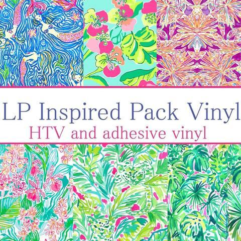 Craft vinyl lilly p inspired vinyl Collection 10, PACK OF 6 VINYL, LP-PK-10